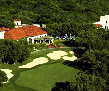 Aerial view of the clubhouse at The Club at Sonterra